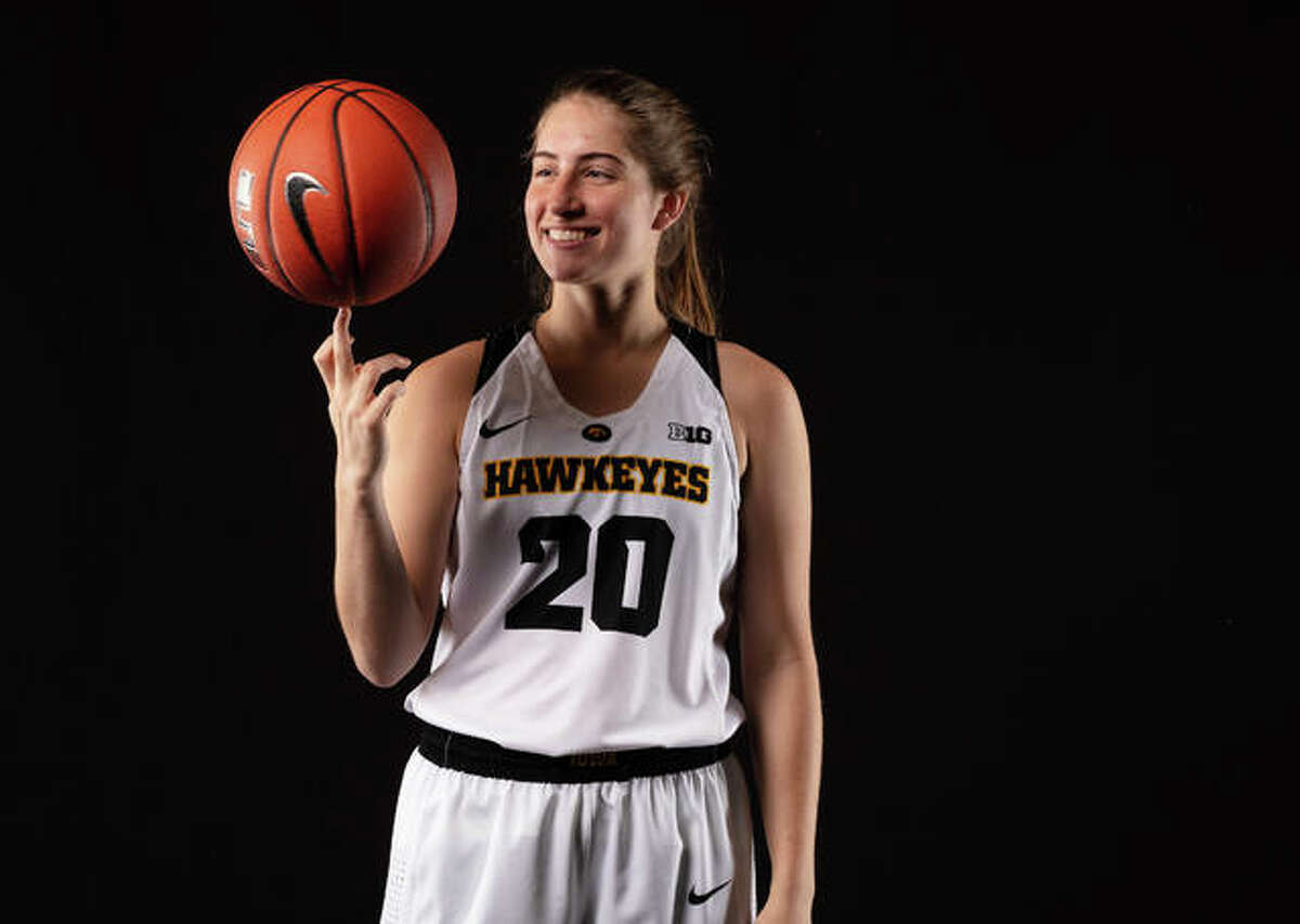 Iowa Hawkeyes guard Kate Martin (20) poses for a photo on Thursday, October 11, 2018, at Carver-Hawkeye Arena.