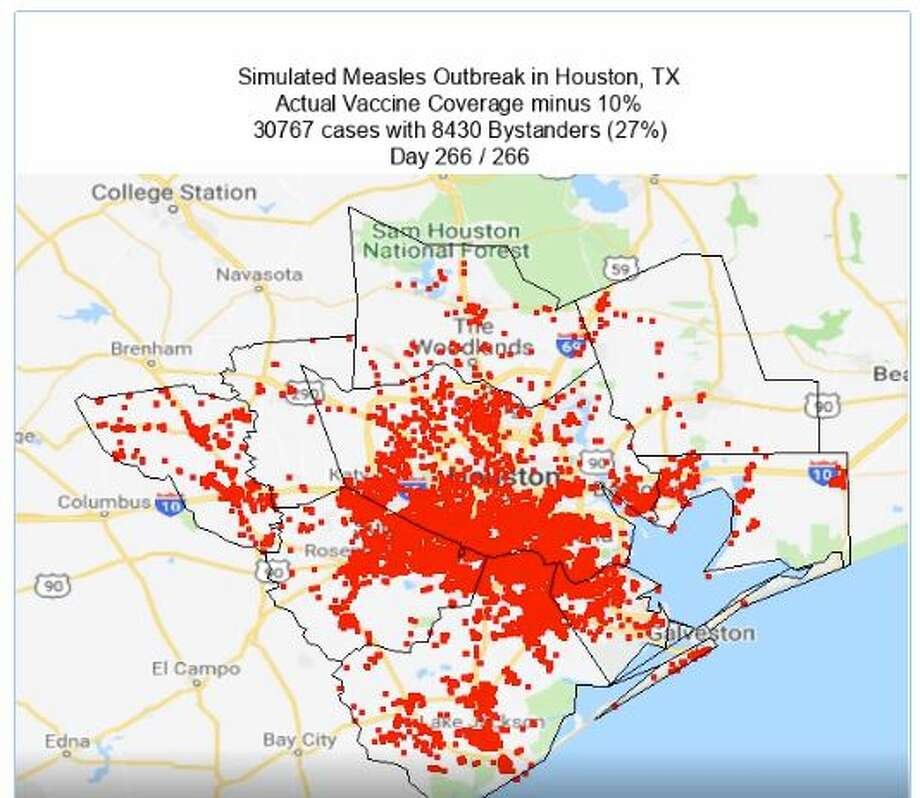 >>>Check out what the potential progression of a measles outbreak might look like across counties in and around Houston Photo: A Framework For Reconstructing Epidemiological Dynamics