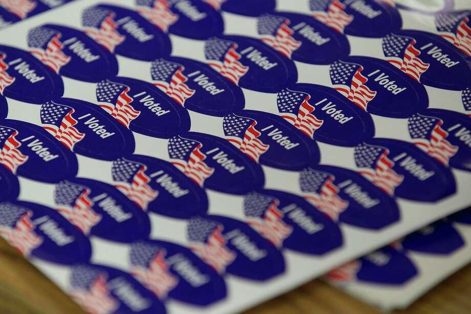 """I voted"" stickers in San Diego in June 2018. (John Gibbins/San Diego Union-Tribune/TNS) Photo: Hearst Connecticut Media File Photo / San Diego Union-Tribune"