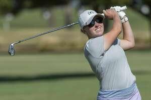 Rebecca Reed watches her shot 07/24/19  during the Midland Women's City Golf Tournament at Ranchland Hills Golf Club. Tim Fischer/Reporter-Telegram