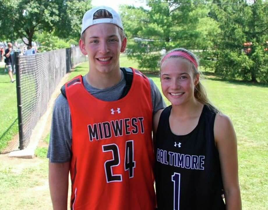 Dow High sophomores and first cousins Ryan Stadelmaier, left, and Emma Murphy both competed in the Under Armour All-American Lacrosse Classic in Baltimore, Md., in late June.