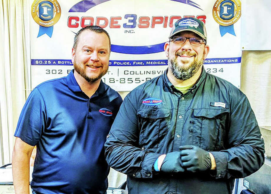 Code 3 Spices owners Chris Bohnemeier (left) and Mike Radosevich. Photo: Courtesy Of Code 3 Spices