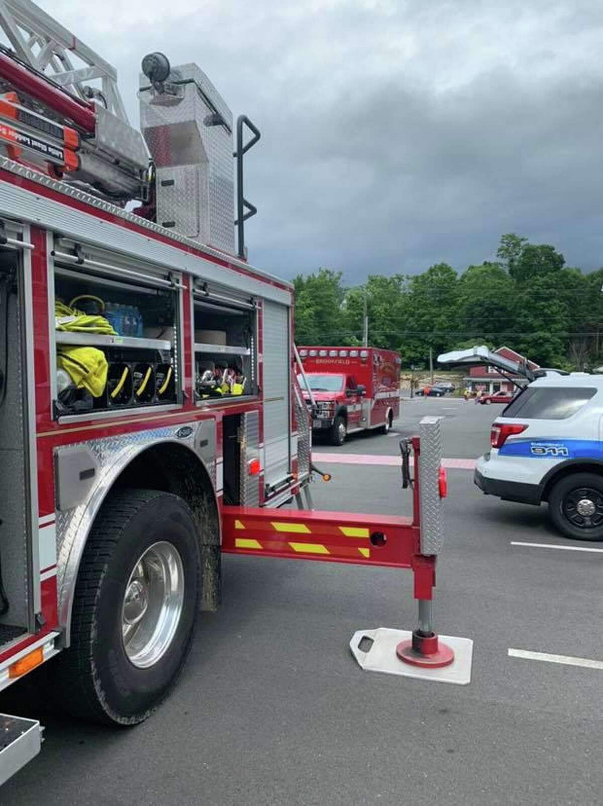Brookfield firefighters respond to 800 Federal Road on July 23, 2019.