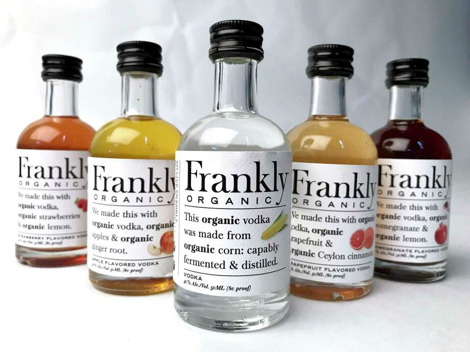 A selection of flavored spirits from the Austin-based Frankly Organic Vodka Photo: Paul Stephen / Staff