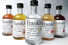 A selection of flavored spirits from the Austin-based Frankly Organic Vodka