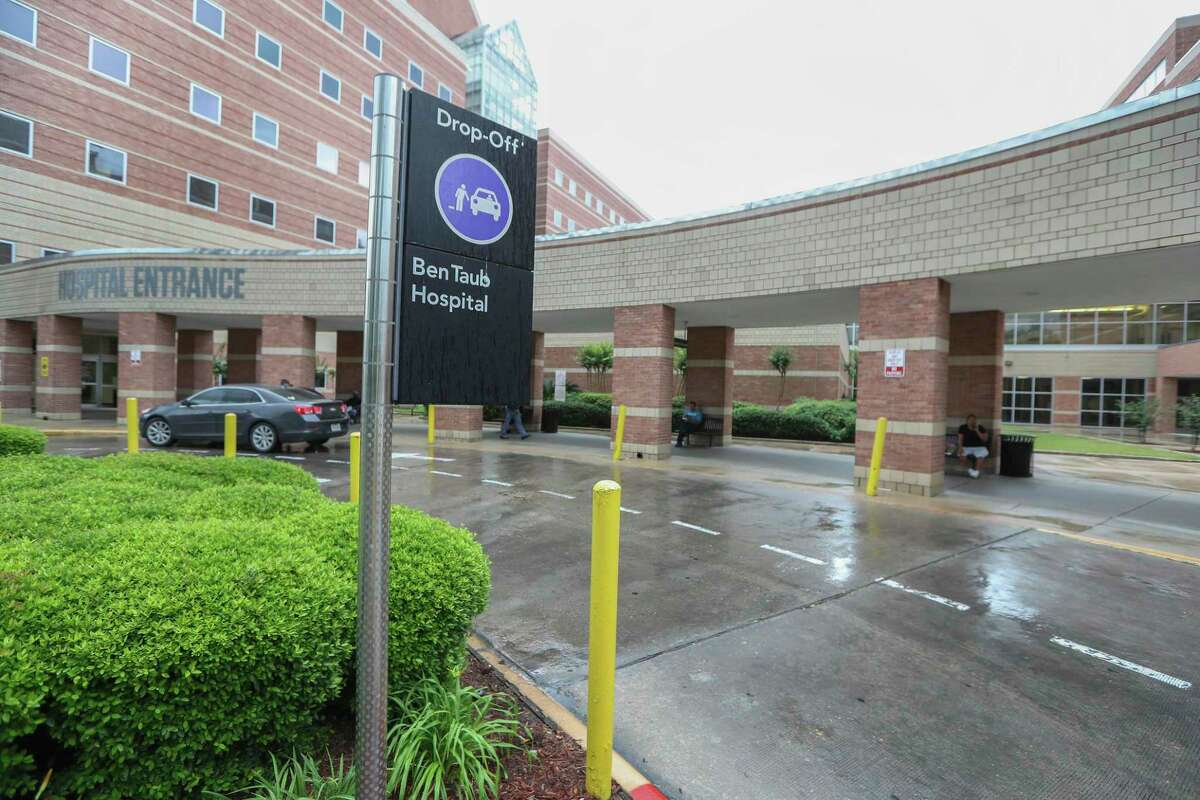 This undated photo shows an entrance to the Ben Taub Hospital in Houston. The hospital faces federal sanctions in a case that regulators say involved inadequate care that led to the April death of a patient. ( Steve Gonzales/Houston Chronicle via AP)