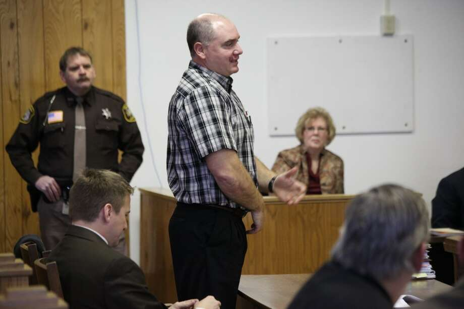 """SENTENCED: Cliff Youngs, former Osceola County Road Commission manager, gave a statement in court on Friday prior to hearing his sentence. """"We just got into a miscommunication, and that's why we're here,"""" Youngs said. (Pioneer photo/Whitney Gronski-Buffa)"""