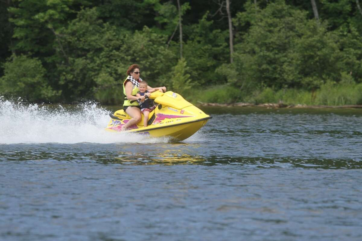 SPEEDING ALONG: Brower Park offers many opportunities for having fun on the water, such as Jet Skiing, tubing and fishing. (Pioneer photo/Nico Rubello)