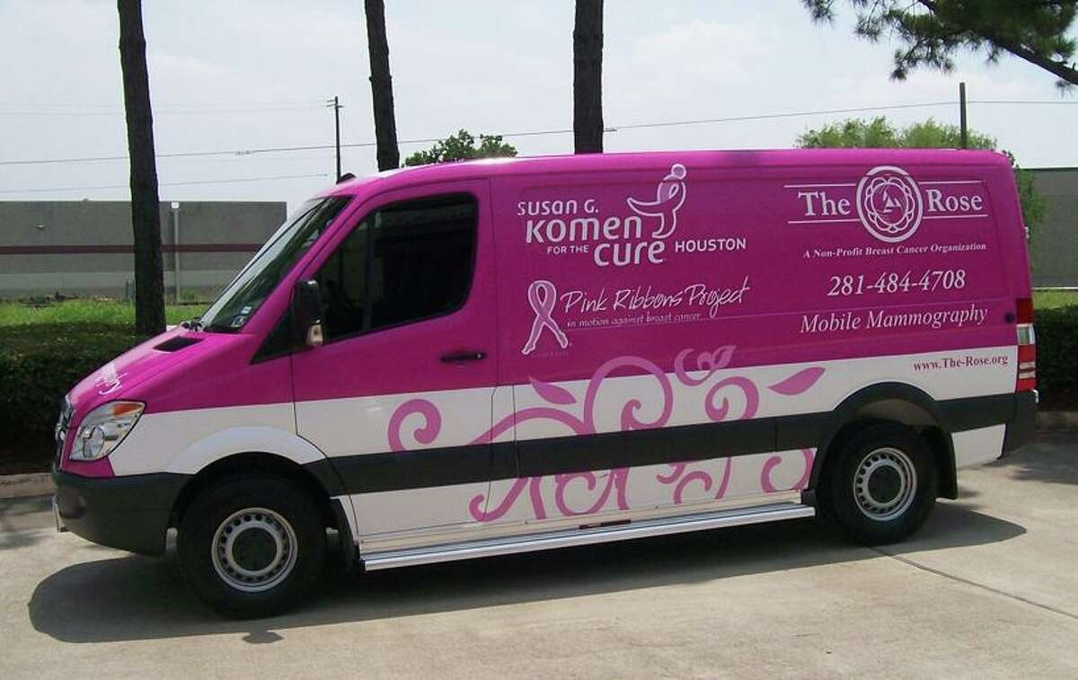 The Rose's Pink Ribbons Mobile Unit offers breast cancer screenings for uninsured and underinsured patients.