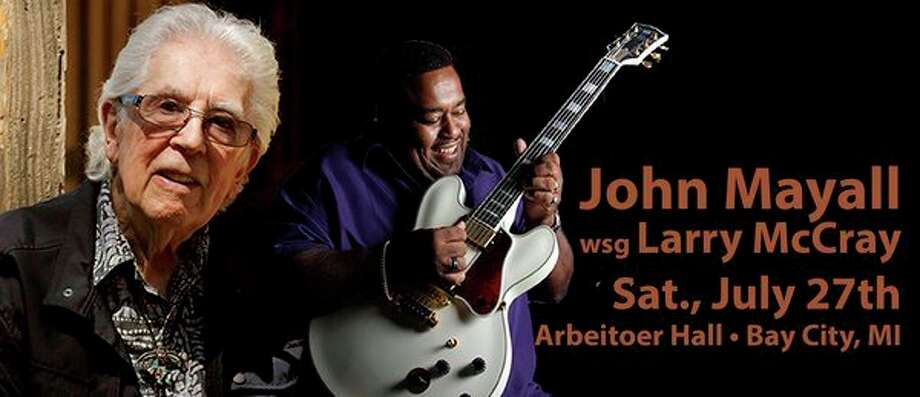 Saturday, July 27: John Mayall, The Godfather of British Blues, with special guest Larry McCray in concert in Bay City. (photo provided)