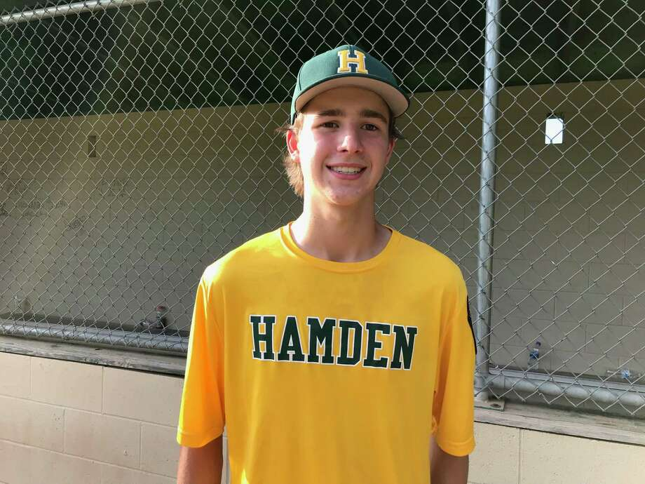 Jack Lindberg was the winning pitcher for Hamden in its 8-3 victory against Greenwich in a Connecticut Junior American Legion Tournament game on Wednesday, July 25 in Hamden. Photo: David Fierro /Hearst Connecticut Media Group