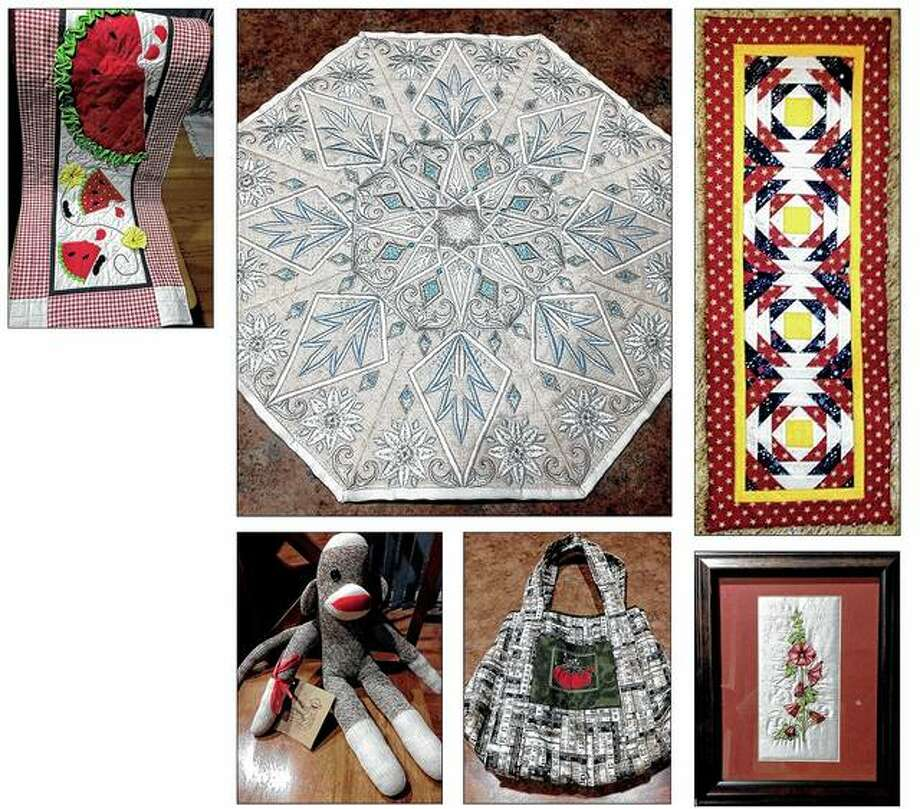 Handmade items ranging from table runners to table toppers to tote bags, toys and framed art will be auctioned Friday and Saturday as part of the River Country Quilt Show at Jacksonville High School. Proceeds will benefit the Jacksonville Center for the Arts. Photo: Photos Provided