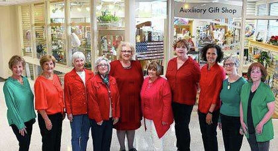 Serving as chairs for the Passavant Area Hospital Auxiliary Holiday Bazaar are Judy Rhoads (from left), Linda Curtis, Rosella Spreen, Sonie Smith, Patty Fitzpatrick, Anne Wildrick, Mary Jo Barker, Karen Sibert, Jo Ann Nelson and Jeanne Gates. Photo: Photo Provided