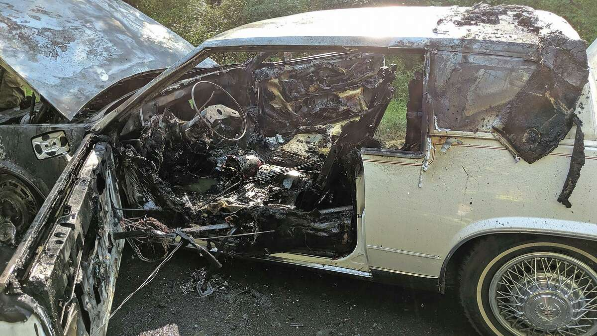 Just before 5 p.m. on Wednesday, July 24, 2019, a car became engulfed in flames on Pine Hill Road in New Fairfield. The New Fairfield Volunteer Fire Department and police responded and found the vehicle in flames. Firefighters quickly extinguished the blaze