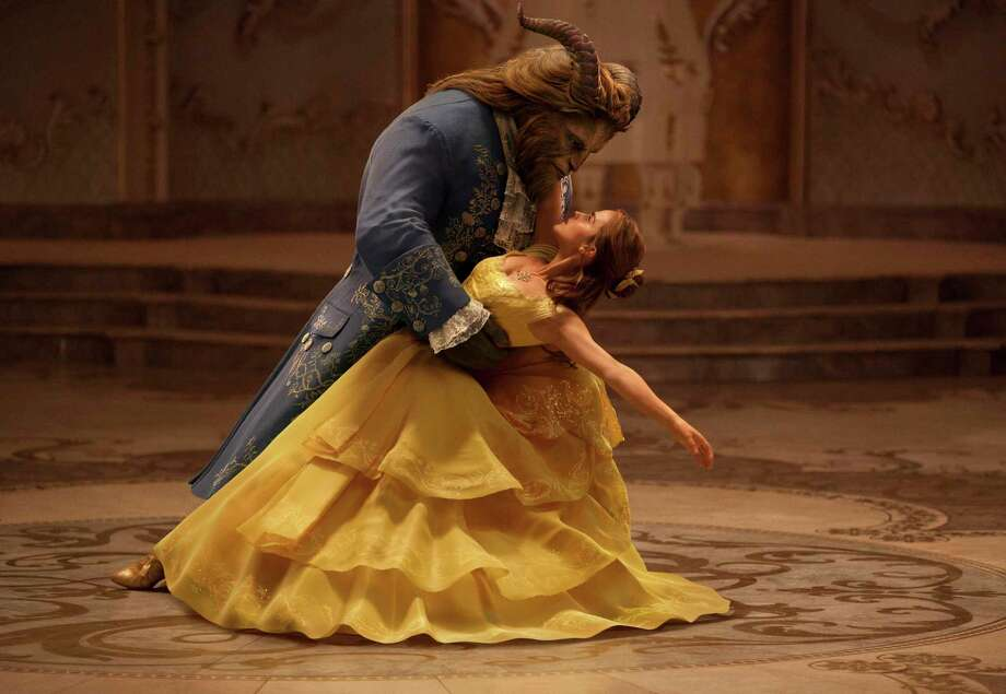 "This image released by Disney shows Dan Stevens as The Beast, left, and Emma Watson as Belle in a live-action adaptation of the animated classic ""Beauty and the Beast."" (Disney via AP) Photo: Associated Press / © 2016 Disney Enterprises, Inc. All Rights Reserved."