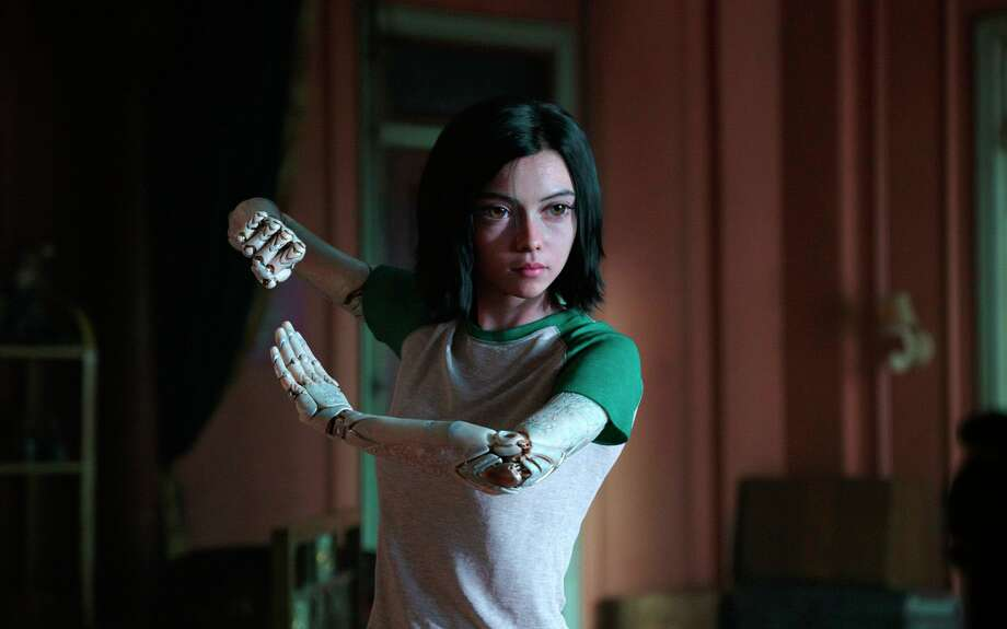 "This image released by Twentieth Century Fox shows the character Alita, voiced by Rosa Salazar, in a scene from ""Alita: Battle Angel."" (Twentieth Century Fox via AP) Photo: Associated Press / Twentieth Century Fox"