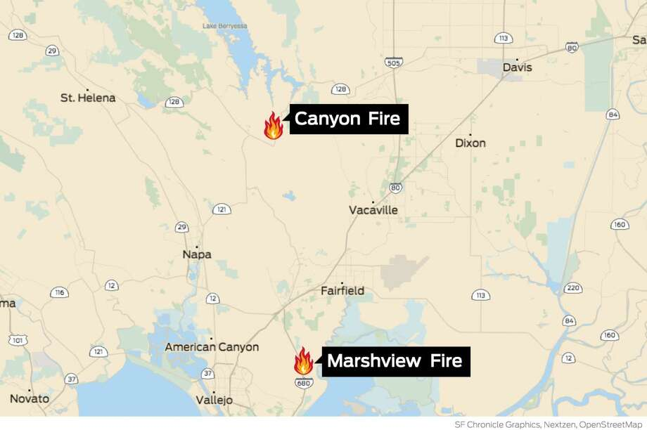 Firefighters get upper hand on three blazes across Bay Area
