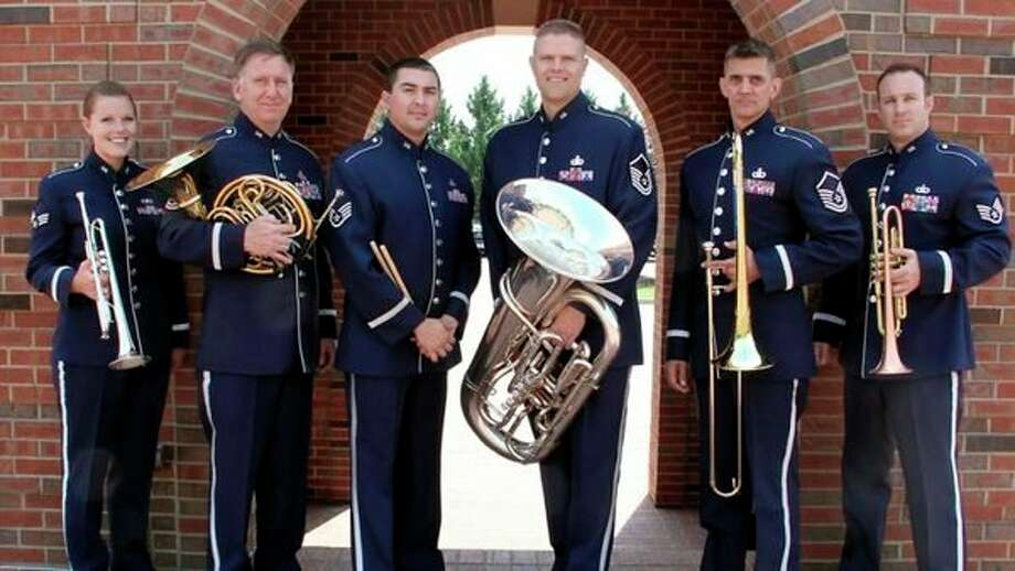 Airlifter Brass, the Brass Quintet of the U.S. Air Force Band of Mid-America, will perform a free concert Aug. 20 at the Midland Center for the Arts. (photo provided)
