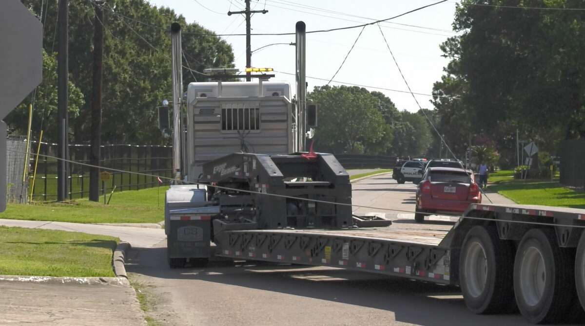 More than 1,500 CenterPoint Energy customers are without power after an 18-wheeler knocked down utility pole along the Gulf Freeway on Thursday, July 25, 2019.