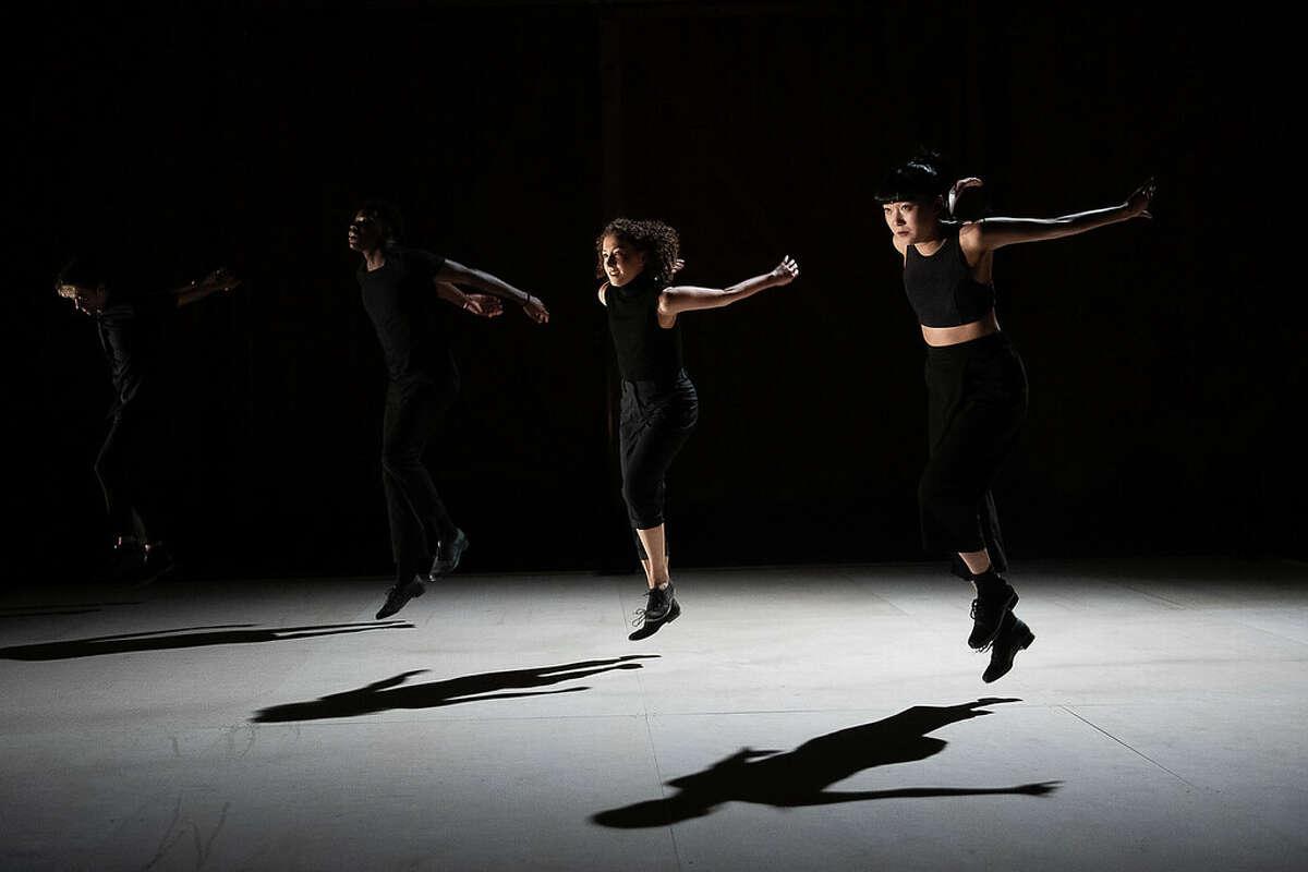"Caleb Teicher, Jabu Graybeal, Macy Sullivan, and Naomi Funaki in ""More Forever"" by Caleb Teicher & Company with Conrad Tao."