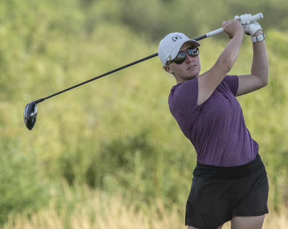 Rebecca Reed follows her shot 07/25/19 as she battles Faith DeLaGarza for the Midland Women's City Golf Tournament championship. Tim Fischer/Reporter-Telegram Photo: Tim Fischer/Midland Reporter-Telegram