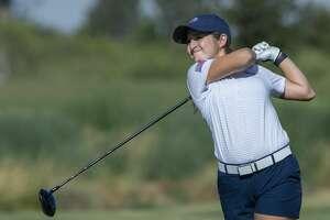 Faith DeLaGarza follows her shot 07/25/19 as she battles Rebecca Reed for the Midland Women's City Golf Tournament championship. Tim Fischer/Reporter-Telegram