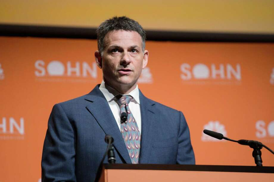 David Einhorn, president and portfolio manager at Greenlight Capital, at the Sohn Investment Conference in New York on May 6, 2019. Photo: Bloomberg Photo By Alex Flynn. / © 2019 Bloomberg Finance LP