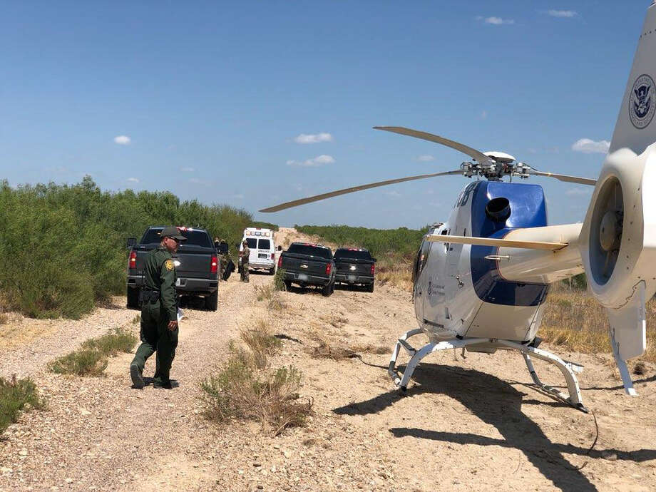 The United States Border Patrol Laredo Sector rescued a lost undocumented immigrant in distress southeast of Laredo. Photo: Courtesy