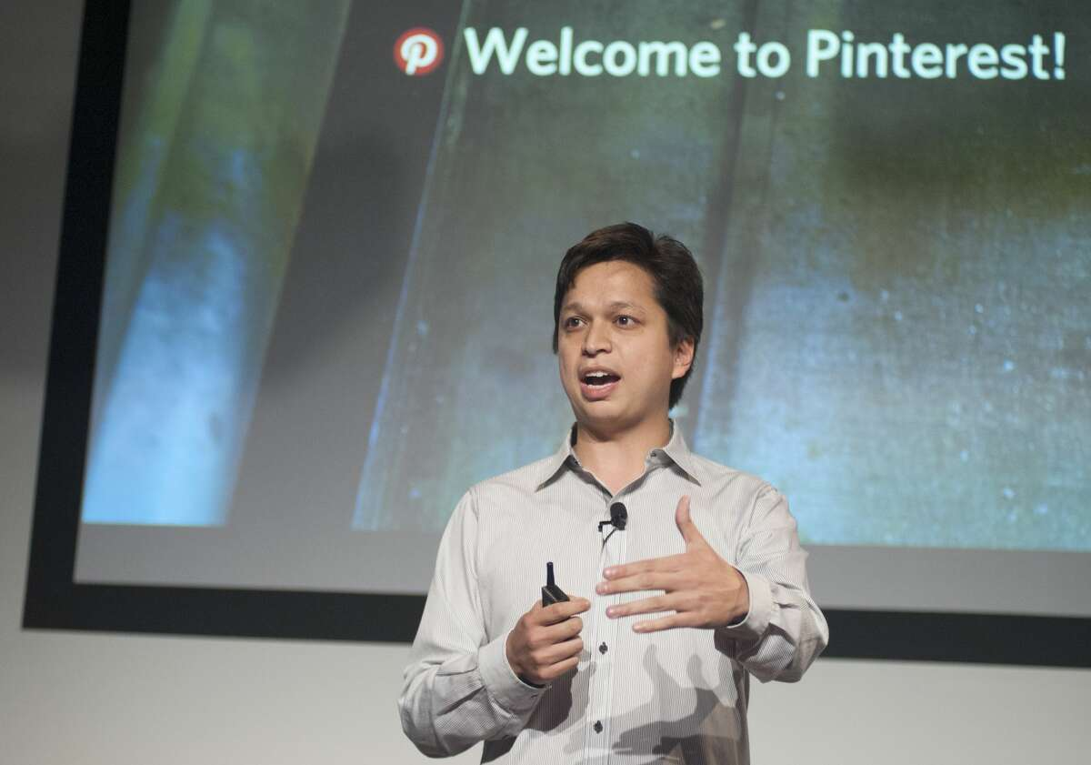 FILE: Pinterest CEO Ben Silbermann addresses a Pinterest media event at the company's corporate headquarters in San Francisco.
