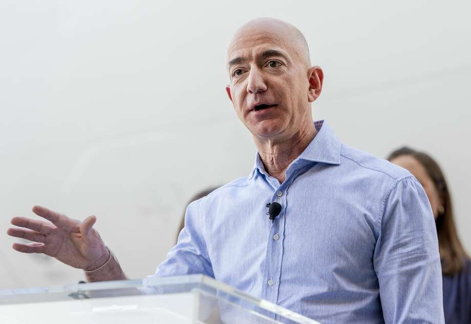 """In 2003, Amazon founder Jeff Bezos was in a helicopter piloted by a man nicknamed """"Cheater"""" when a wayward gust of wind blew it off-course and caused it to crash. Everyone survived, and Bezos sustained minor injuries. The ordeal was chronicled in a book called """"The Space Barons."""" Photo: MediaNews Group/Orange County Re/MediaNews Group Via Getty Images"""