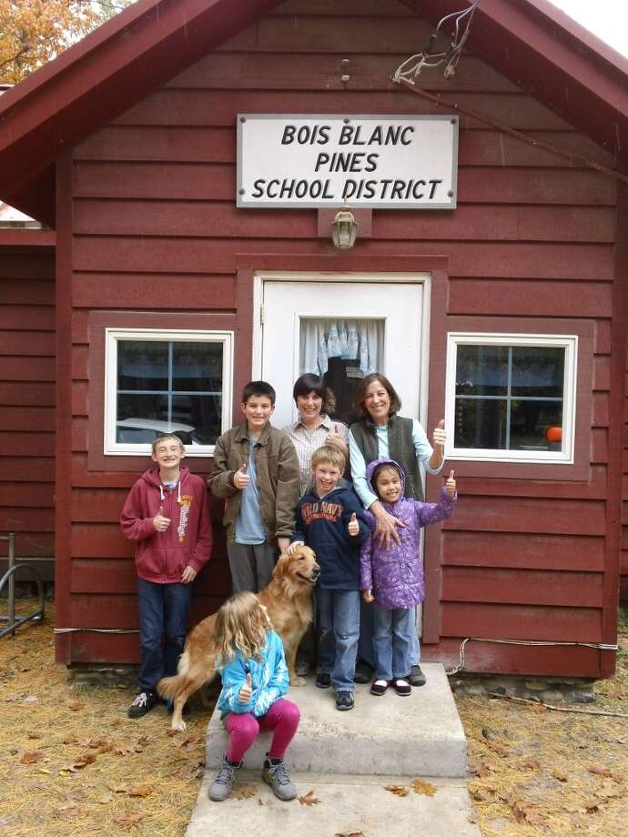 BOIS BLANC ISLAND: Big Rapids resident Craig Chapman took his two children to see Bois Blanc Pines School District, on Bois Blanc Island, which is the smallest school district in Michigan with three students. (Courtesy photos)