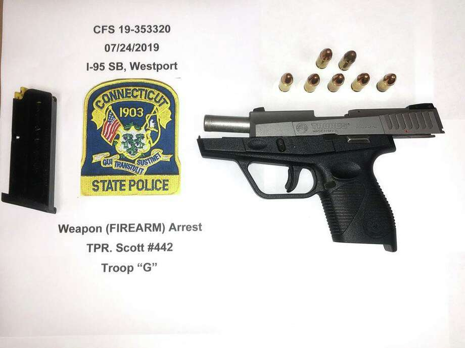"""Leonard McNair, 22, of Bridgeport, was charged with criminal possession of a firearm, carrying a pistol without a permit and criminal impersonation. State police said he also faces """"various other charges,"""" but did not specify what those charges were. Photo: Contributed Photo / Connecticut State Police"""
