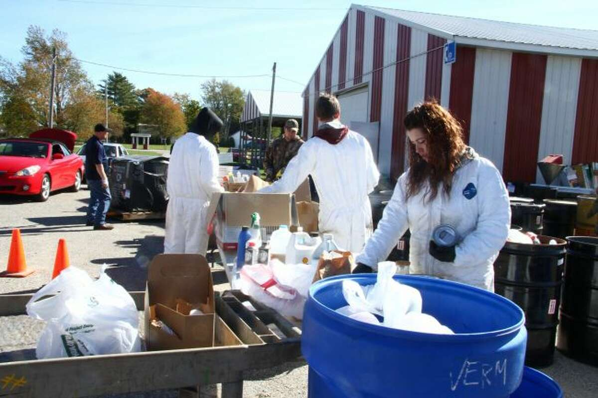 On Tuesday, Osceola County commissioners approved the Mecosta and Osceola-Lake Conservation Districts Services agreement for hazardous waste collection and disposal program. The conservation districts will host their 16th area-wide collection of household toxic and hazardous waste on Saturday, Oct. 13. (Pioneer file photo)