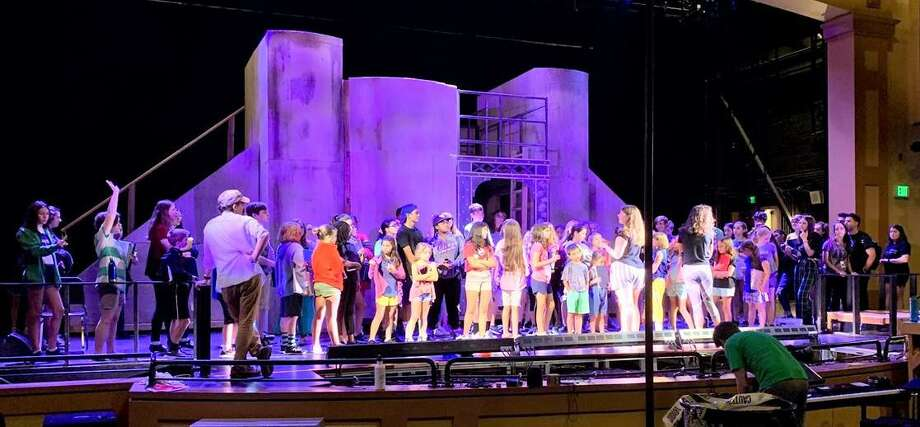 """Students rehearing for NewArts' upcoming performances of """"Matilda."""" Photo: Contributed Photo"""