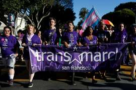 Transgender marchers and supporters at the 2013 Trans March in San Francisco, CA. The Gender Recognition Act has made it easier for nonbinary Californians to get identity documents reflecting their gender.