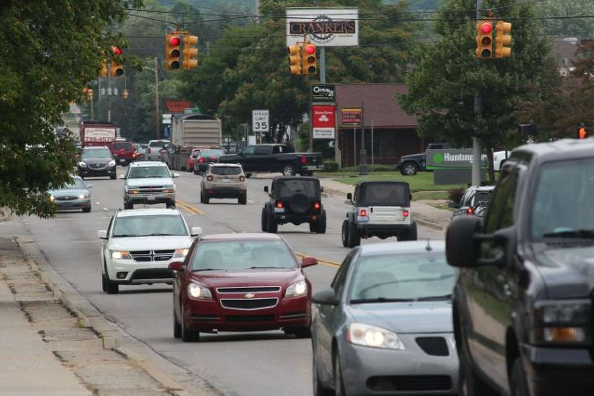 Residents and motorists should expect an increase in vehicle and pedestrian traffic as students return to Ferris State University. Law enforcement officials urge slowing down will help improve safety. (Pioneer photo/Brandon Fountain)