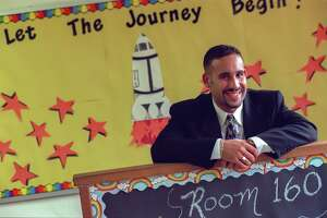 Miguel Cardona, at 23, was a first-time teacher in his fourth-grade classroom at Israel Putnam School in Meriden, Aug. 1998, days before school would open. Now he is Dr. Cardona and will be Connecticut's new education commissioner, starting Aug. 7.