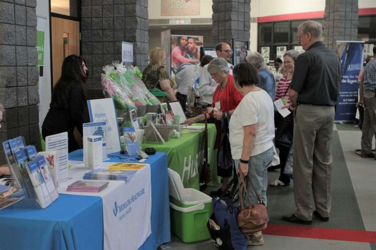 A wide variety of local organizations set up booths during the 31st annual Senior Enrichment Day to provide area seniors with information about different services they offer. (Pioneer photo/Taylor Fussman)