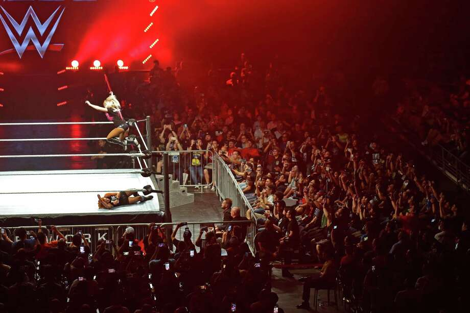 SINGAPORE - JUNE 27: Fans cheer during the WWE Live Singapore at the Singapore Indoor Stadium on June 27, 2019 in Singapore. (Photo by Suhaimi Abdullah/Getty Images for Singapore Sports Hub) Photo: Suhaimi Abdullah / Getty Images For Singapore Sports Hub / 2019 Getty Images
