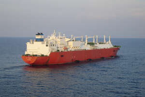 Excelerate Energy's liquefied natural gas tanker Excalibur. The Woodlands liquefied natural gas company has landed an LNG cargo deal with Argentina's YPF — the world's newest exporter of the supercooled fuel.