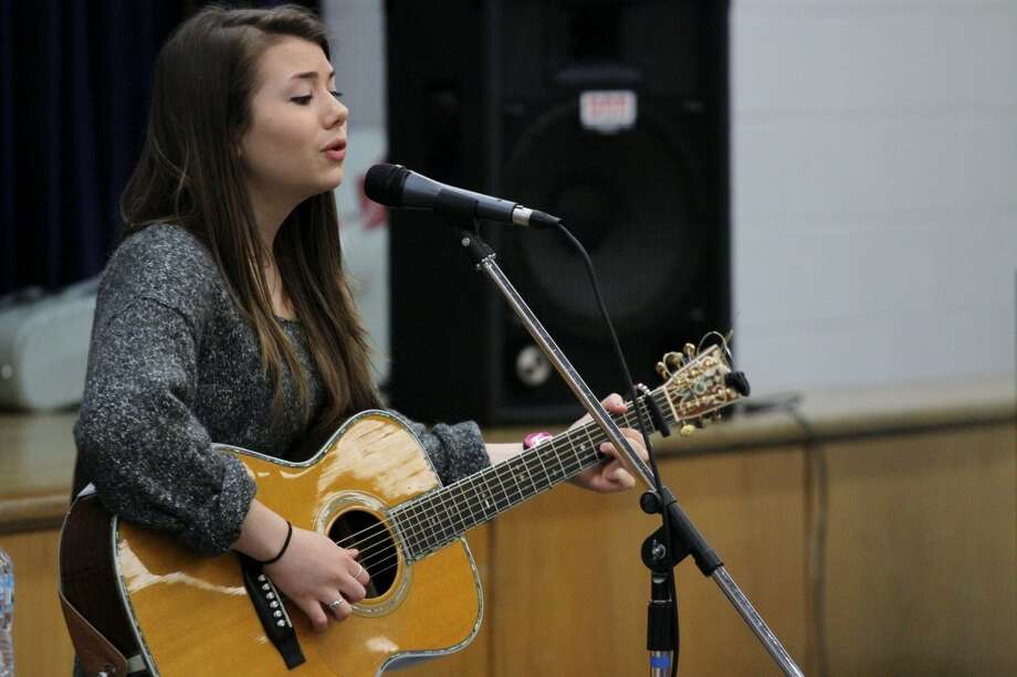 MUSICAL MESSAGE: BRMS students enjoyed Hayley Reardon's songs about bullying, self-confidence and supporting your friends. The 16 year old wrote a song for an anti-bullying program when she was in seventh grade and has continued to use her music to promote positive messages.