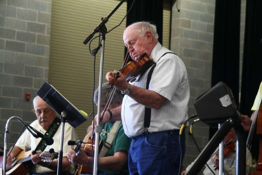 Richard McEachin performs Saturday during the Morley Fiddlers Jamboree. (Pioneer photos/Emily Grove)