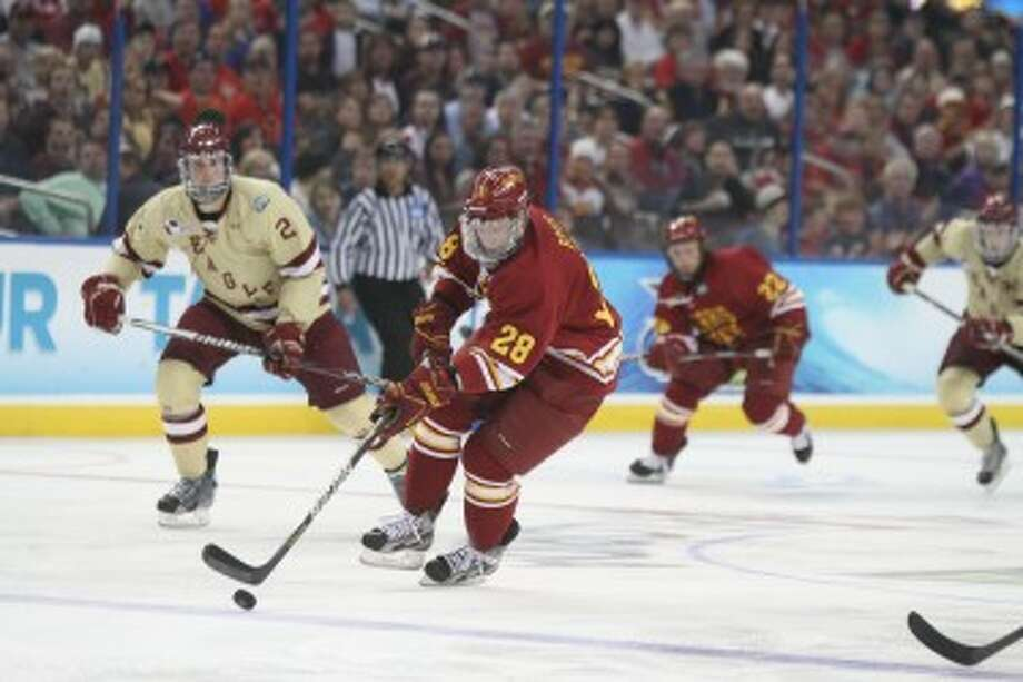 BREAKAWAY: Ferris State's Kyle Bonis is one of the players returning from a team that reached the NCAA title game last season. (Pioneer file photo)