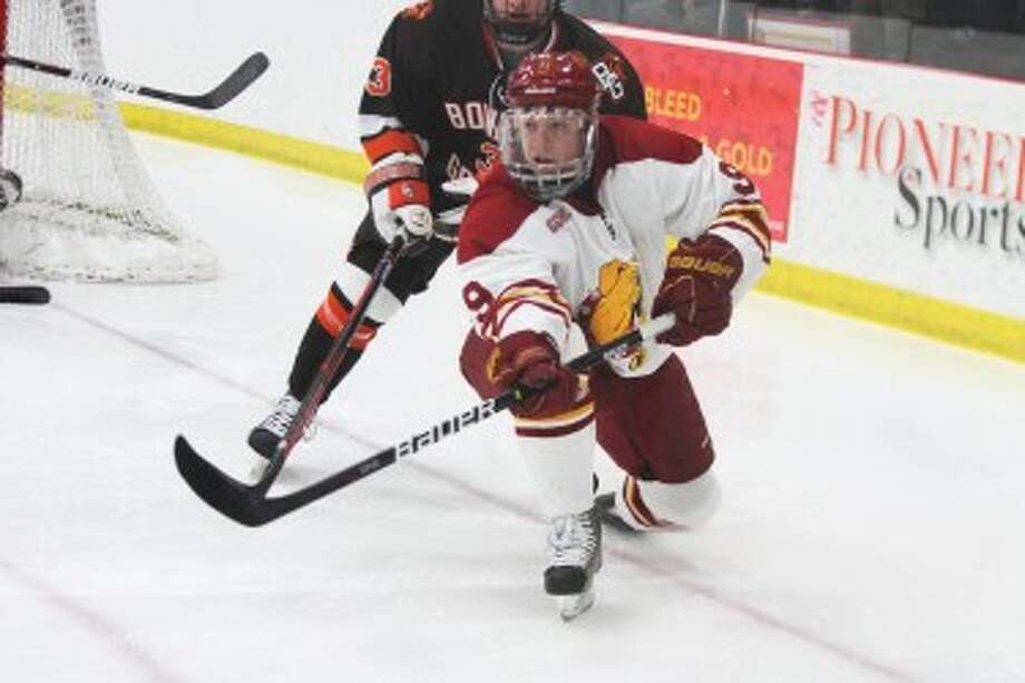 A NEW YEAR: Travis Ouellette and the Ferris State hockey team were picked third in the CCHA media poll. (Pioneer file photo)