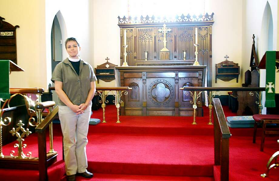 HIDDEN MINORITY: Rev. Laurel Dahill, of St. Andrew's Episcopal Church, is one of many members of the local lesbian and gay community, who each have unique experiences representing that minority in Mecosta County. (Pioneer photo/Lauren Fitch)