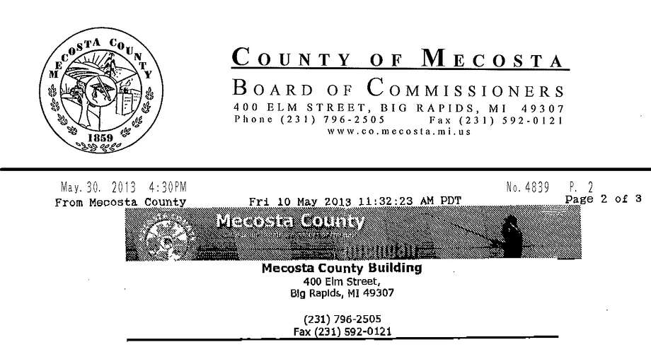 Mecosta County letterhead used in money-wiring scam - Big ... on money order, electronic funds transfer, electronic money, traveler's cheque, electronic bill payment, telegraphic transfer, point of sale, demand draft, automated teller machine, automated clearing house, check 21 act, negotiable instrument, standing order, direct debit, cashier's check,