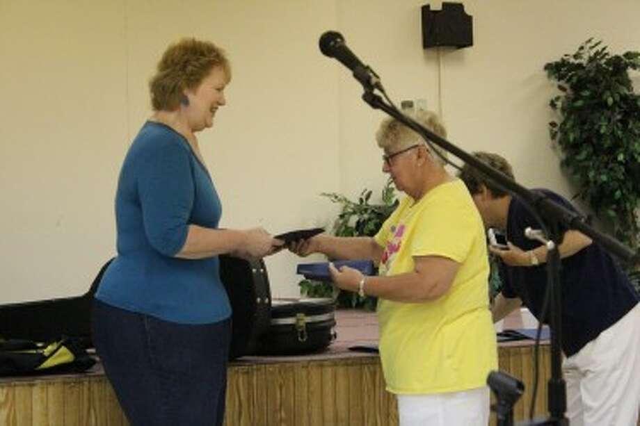 VOLUNTEER: Jane Rozier is recognized for 1,000 hours of volunteering in Mecosta County. (Pioneer photo/Miranda Roberts)