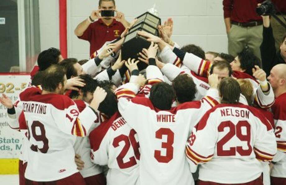 WINNING FORMULA: Ferris State's hockey team ranked No. 8 nationally in the latest Academic Progress Report released by the NCAA for the 2011-12 season. (Pioneer file photo)