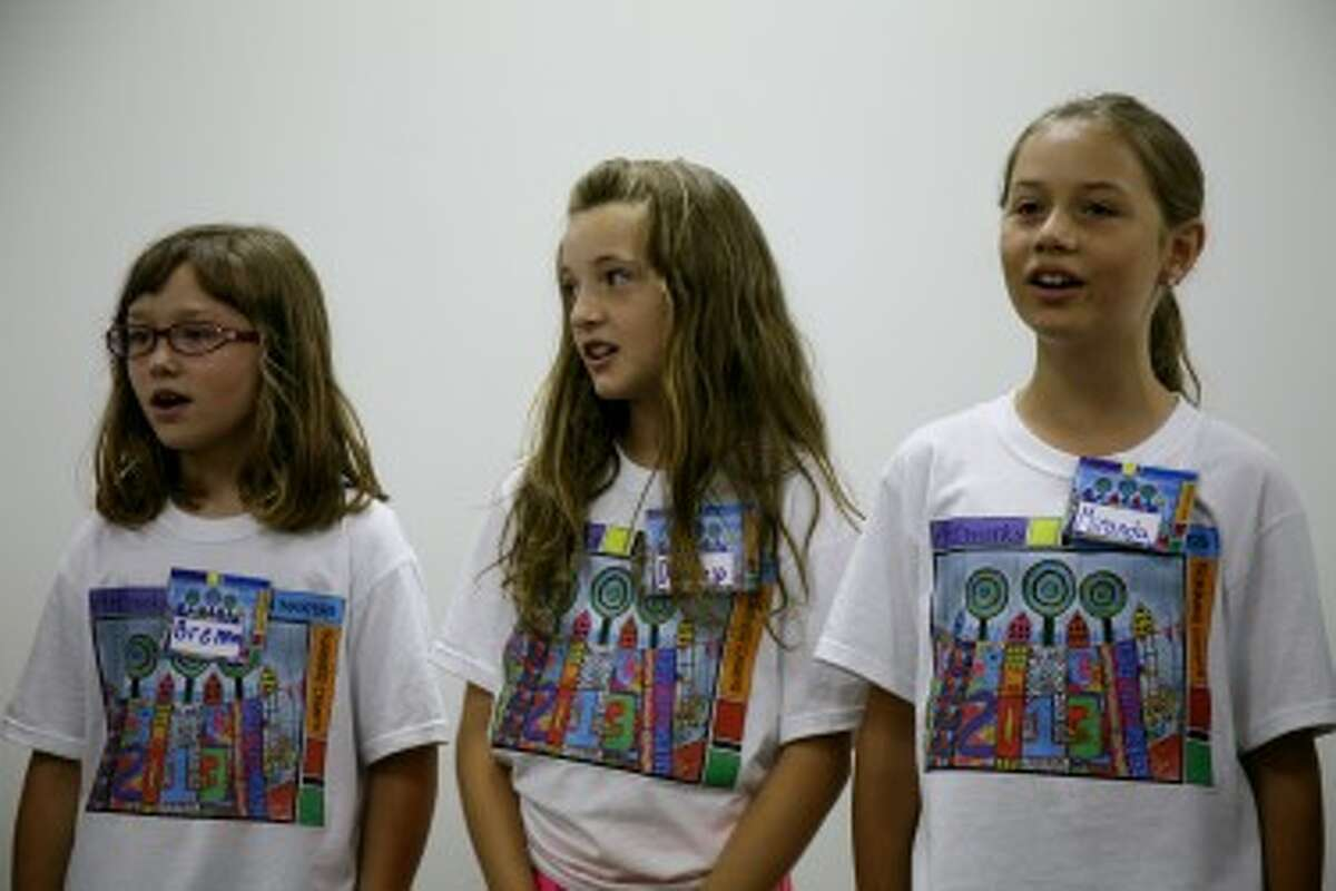 SING OUT: Girls in the Artworks modern music singing mini-camp perform on Thursday, the last day of camp. Artworks offers several week-long summer camps, each with a different focus.