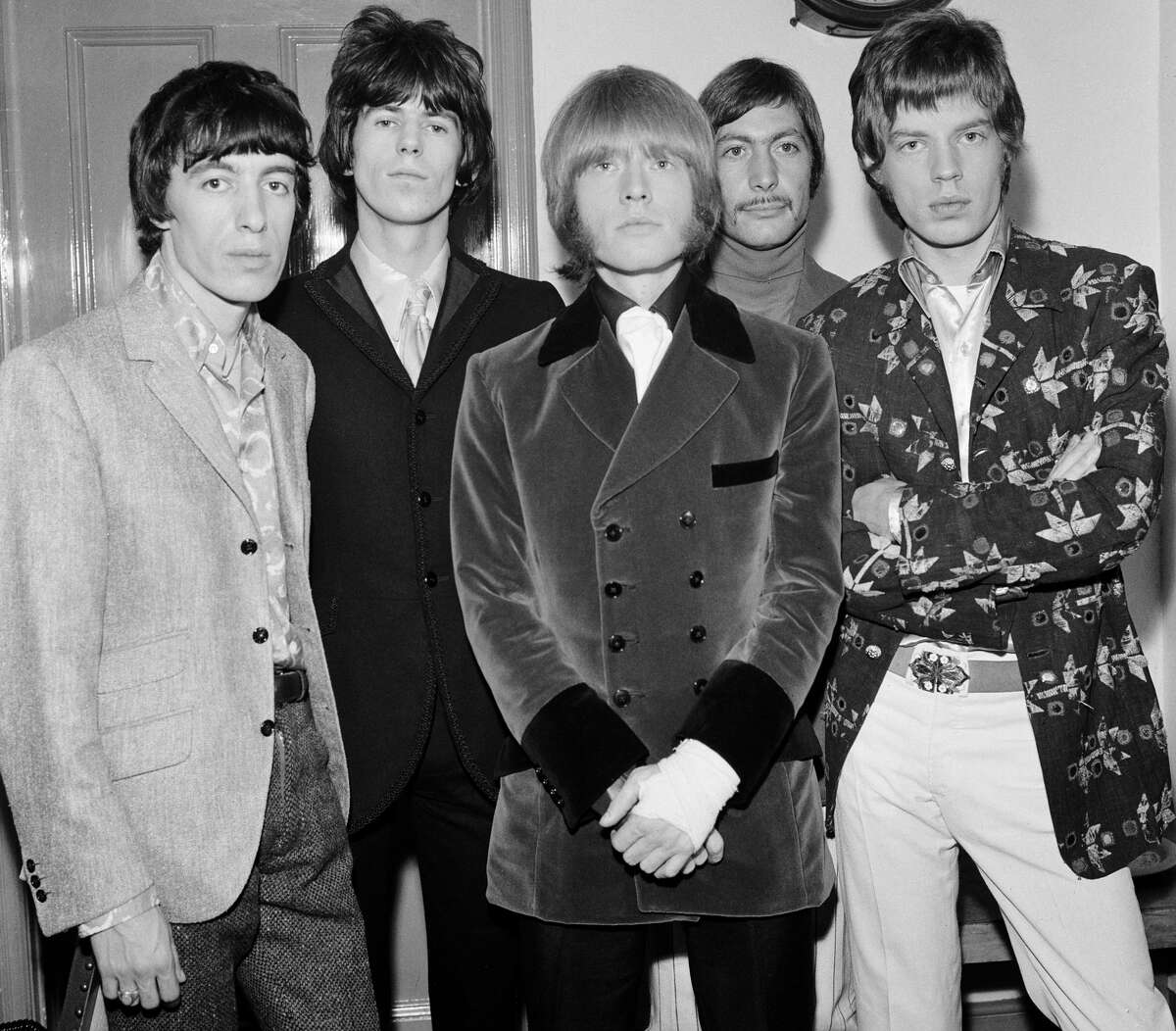 The Rolling Stones at The Royal Albert Hall, their first British Tour in a year. Left to right: Bill Wyman, Keith Richards, Brian Jones, Charlie Watts and Mick Jagger. 23rd September 1966.
